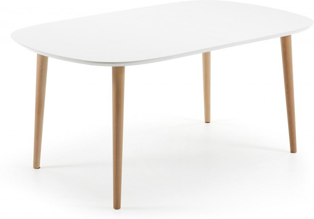Witte Eettafel 220 Cm.Eettafel Oqui Verlengbaar 160 260 X 100 Cm Wit La Forma Lil Nl